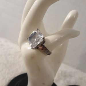 Flashy princess Ring Cubic Zirconia 925 marked